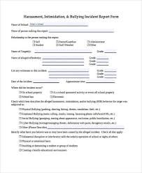 school incident report template sle incident report form