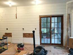 shiplap kitchen backsplash with cabinets kitchen remodel adding a shiplap wall the house