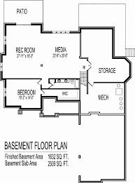 ranch floor plans with basement new o good looking open floor plan