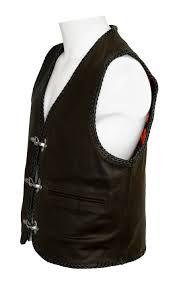 biker waistcoat mens leather waistcoats men