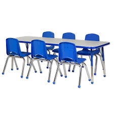 Rectangular Table L 12 Chairs 30 X 60 Rectangle Table Set Ecr4kids Schoolsin