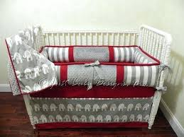 Custom Crib Bedding For Boys Custom Baby Bedding Set Boy Neutral Crib Gray Elephants And