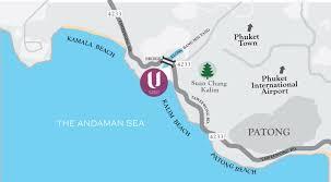 Phuket Map Luxury Hotel Phuket Contact Us U Zenmaya Phuket