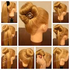 wedding hairstyles step by step instructions wonderful diy bun with cute rose bow hairstyle