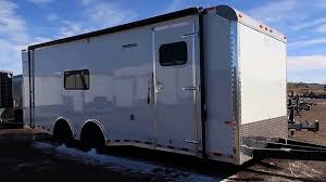 travel trailer with garage 24 foot toy hauler cargo trailer insulated trailer with a c