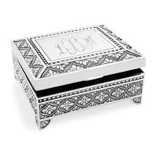engravable box engravable silver plated jewelry box with filigree finish