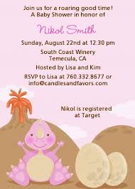baby girl invitations dinosaur baby girl baby shower invitations candles and favors