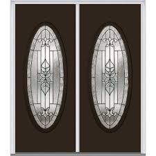 Steel Exterior Entry Doors Mmi Door 64 In X 80 In Cadence Left Large Oval Lite Classic