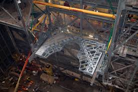 new work platform installed in vehicle assembly building high bay