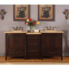 76 inch double sink bathroom vanity with granite counter top
