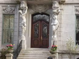 decorating fabulous front house landscape design ideas with white