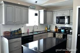 light grey kitchen cabinets with black appliances gray kitchen cabinets with black counter search
