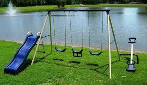 Small Backyard Swing Sets by Smallest Swing Set For A Small Backyard