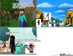 Minecraft Herobrine Memes - minecraft notch vs herobrine by lamzer22999 meme center