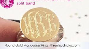 Monogram Ring Gold Gold Monogram Ring Youtube