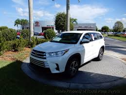 toyota highlander 2017 new toyota highlander le i4 fwd at royal palm toyota serving