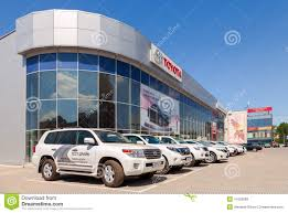 site oficial da toyota office of official dealer toyota in samara russia editorial stock
