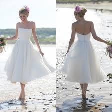aliexpress com buy cheap plus size tea length beach wedding