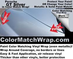 porsche paint colors in vinyl wrap gt silver m7z matching vinyl