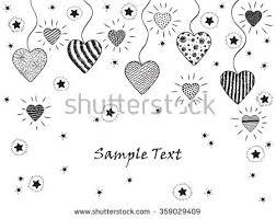 happy valentines day hearts stars hand stock vector 359029409