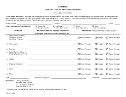 elementary progress report template school progress report template unique student progress report