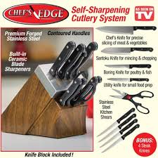 self sharpening kitchen knives chef s edge self sharpening cooking knives from collections etc