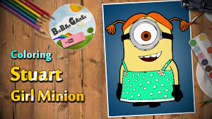 stuart minion coloring drawing despicable me painting
