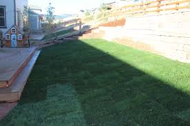 back yard landscape retaining wall arvada colorado landscape