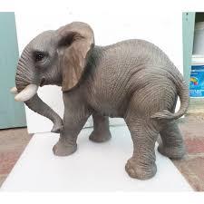 arts real elephant realistic animals resin ornament