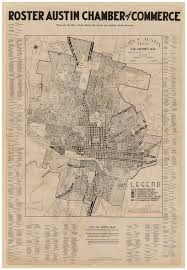 Map Of Austin Tx City Of Austin Texas Use District Map 1939 By Austin Chamber Of