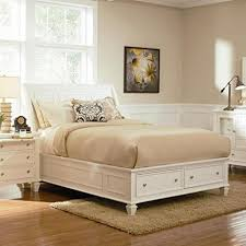 amazon com eastern king bed with footboard storage coaster