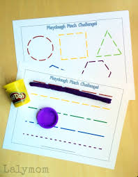 free printable shape playdough mats fine motor activities for pinch strength lalymom