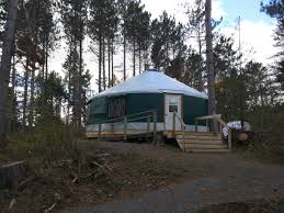green visions a new yurt an unlimited supply of firewood life