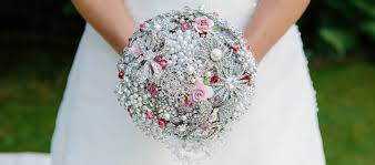 wedding flowers jewellery brooch bouquets alternative wedding bouquets with wow