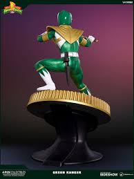 mighty morphin power rangers green ranger statue pop cult