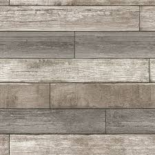 reclaimed wood plank natural peel and stick wallpaper modern