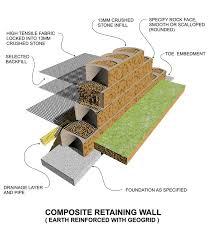 masonry retaining wall design stone wall diagram with masonry
