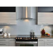 Home Depot Kitchen Backsplash Smart Tiles Stainless 10 625 In W X 10 00 In H Decorative Mosaic