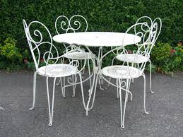 Wrought Iron Dining Room Tables Exellent Wrought Iron Patio Furniture White Piece Vintage Set