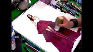 fashion sketch speed painting youtube