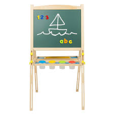 kid wood easel front u0026 back sketch box portable folding stand art