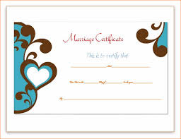8 marriage certificate template outline templates