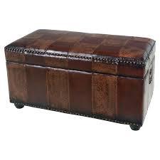 amazon com international caravan faux leather bench trunk color