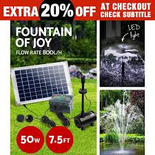 50w solar powered fountain battery outdoor fountains submersible