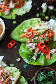 Dinner Ideas Using Chicken Thai Chicken Lettuce Wraps With Spicy Peanut Sauce Easy Healthy