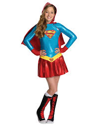 supergirl hoodie girls costume exclusively at spirit halloween
