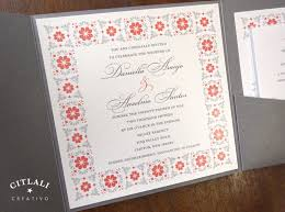 bilingual wedding invitations uncategorized bilingual copper foil and blind letterpress