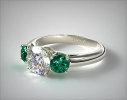 and emerald engagement rings three emerald engagement ring 18k white gold 11158w