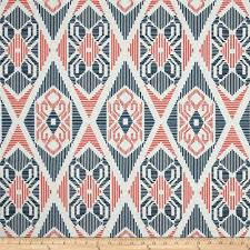 Coral And Navy Curtains Premier Prints Munsee Twill Premier Navy Coral Discount Designer