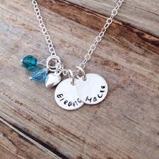 Custom Charm Necklaces Childrens Names Charm Necklace From Red Horses Redhorses Etsy